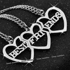 BLACK FRIDAY DEALS - 3 Matching Silver Heart Necklaces Sisters Xmas Gift For Her