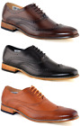 Mens Brand New Black Leather Lined Lace Up Brogue Shoes Size 7 8 9 10 11 12 M014