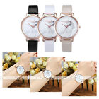 White Rabbit Pattern Pu Leather Strap Rose Gold Case Quartz Analogue Wristwatch