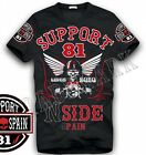 031 Hells Angels NorthSide Spain black T-Shirt model 7 Front + sleeves printed