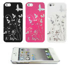 Stylish Floral Butterfly Hard Phone Case, Cover for Apple iPhone 5 / 5s / 4 / 4s