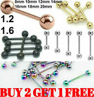 Straight Tongue Bar Surgical Steel Barbell Piercing Nipple Tragus Eyebrow Ring