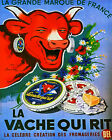 French Cow Cheese Advert Sign ENAMEL TYPE METAL TIN SIGN WALL PLAQUE