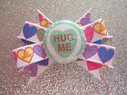 """2"""" Mini Boutique Dog Bow~Valentine's Day~Candy Hearts~Green Hug Me"""