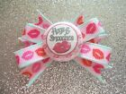 """2"""" Mini Boutique Dog Bow~Valentine's Day~Hugs & Smooches~Lips~Girl Bow"""
