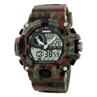 SKMEI Mens LED Digital Analog Alarm Waterproof Sport Army Watch Wristwatch New