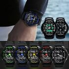 SKMEI Mens LED Digital Analog Alarm Waterproof Sport Army Watch Wristwatch New image