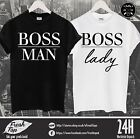 BOSS Lady Man Matching Couple T Shirt Sweet Dope Awesome Girlfriend Wife Gift
