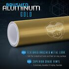 Brushed Aluminum Metallic Vinyl Film Wrap Sticker Bubble Free Air Release - Gold