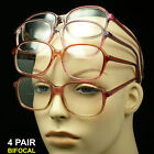 4 PAIR BIFOCAL READING GLASSES CLEAR LENS NEW STRENGTH PACK LOT POWER UNISEX