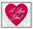 Valentine's Day I Love You image cake topper frosting sheet #5850