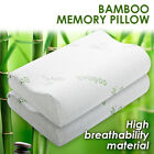 Luxury Bamboo Contour Pillow Memory Foam Fabric Fibre Cover 50 x 30cm AU