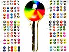 New Personalised Cylinder Key Kapz Self Adhesive Colourful Key Head Topper
