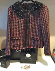 Zara Burgundy Black Tweed Jacket S Xl