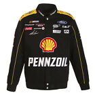 2017 Authentic Joey Logano Pennzoil Shell Black Yellow Cotton Jacket JH Design