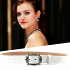 Simple Women Lady Top Leather Casual Needle Pin Buckle Belt Waistband OG