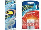 SELLOTAPE On Hand Dispenser Clear And Decorative Sellotape Refill Rolls 18mmx15m