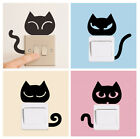 """2-piece BLACK CAT Light Switch or Outlet Sticker - Head is 4.25 to 4.5"""" x 3 3/8"""""""