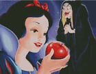 Cross stitch chart, pattern. Snow White, Disney, Snowhite, Apple, Witch, dwarfs