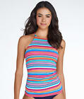Anne Cole Signature Triangle Stripe Halterini Top - Women's Swimwear