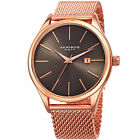 Men's Akribos XXIV AK959 Quartz Sunray Dial Date Stainless Steel Mesh Watch