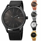 Jewelry Watches - Men's Akribos XXIV AK959 Quartz Sunray Dial Date Stainless Steel Mesh Watch