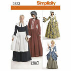 Simplicity 3723 Sewing PATTERN Womans 14-22 Historical Colonial Gown Costume