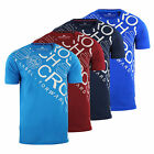 Mens T Shirt Crosshatch Wolvey Crew Neck Cotton Graphic Casual Top