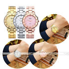 "7.5""L Charming Women Golden Rose Gold Silver Wristwatch Quartz Analogue Watch"