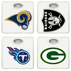 FC351 NFL FOOTBALL LOGO TEAM THEMED WHITE BATHROOM DIAL WEIGHT SCALE POUNDS LBS $48.87 USD on eBay