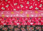 VALENTINES #2  FABRICS Sold INDIVIDUALLY NOT AS A GROUP By the HALF YARD