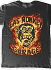 GAS MONKEY GARAGE FLAME MONKEY DESIGN T SHIRT S-2XL NEW DESIGN LICENSED WTH TAGS