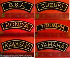 BSA Honda Kawasaki Suzuki Triumph Yamaha Embroidered Patch Rocker Motorcycle €4.41 EUR on eBay