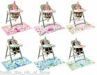 First 1st Birthday 4 Piece Highchair Kit - Pink or Blue, Baby Girl or Baby Boy