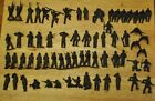 Lot Of 67 Vintage 2 Inch Green Plastic Army Men Marching Sitting Shooting More