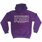 ALSO AVAILABLE SOBER HOODIE hoody booze beer wine funny birthday gift 123t