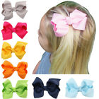 3 Inch Girls Hair Bow Boutique Alligator Hair Clips Kids Bowknot Hairpins