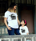 2 shirts- MAMA Bear and CUB mother shirt, child tshirt grizzly matching combo