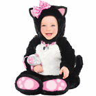 Kitty Toddler Costume – Girls Kids Childrens Babies Fancy Dress Cat Jumpsuit Kit