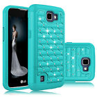 For LG Optimus Zone 3/ Rebel LTE/ Spree/ K4 Rugged Hybrid Armor Phone Case Cover