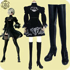 New Anime NieR:Automata 2b Black Boots Cosplay Shoe Free Shipping