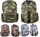 Hi Tec Men's Quality Army camo Camouflage Military Backpack Rucksack Bag Strong