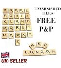 WOODEN SCRABBLE LETTER TILES PICK & MIX CHOOSE YOUR OWN REQUIRED LETTERS UK P&P