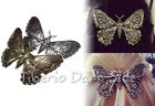 Restyle Bronze or Silver Steampunk Mechanical Gear Moth Goth Hair Slide Barrette