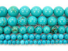 Stabilized Turquoise Gemstone Round Beads 16'' 2mm 3mm 4mm 6mm 8mm 10mm 12mm