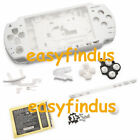 for PSP 2000 Full Housing Case battery lid button barcode replacement white new
