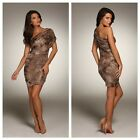New HONOR GOLD One Shoulder BNWT £55 Bodycon Bandage Club Evening Party Dress