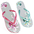Womens/Ladies Flower Print Flip Flops