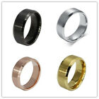 Men Titanium Gold Silver Wedding Engagement 316L Stainless Steel Band Ring Gift