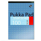 A4 Dual Graph Refill Note Pad 100 Pages 80GSM Paper 4 Hole Punched - Pack of 6
